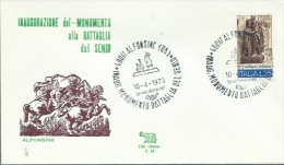 ALFONSINE- INAUGURAZIONE MONUMENTO BATTAGLIA DEL SENIO- 10-4-1973 - Non Classificati