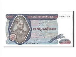 [#108044] Zaïre, 5 Zaïres Type Mobutu - Zaïre