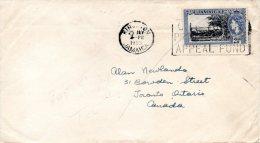 JAMAÏQUE. N°163 De 1955 Sur Enveloppe Ayant Circulé. Baie D´Old Montego. - Jamaica (...-1961)