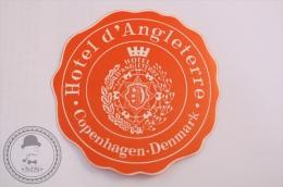 Hotel D´Angleterre, Copenhagen - Denmark - Original Vintage Luggage Hotel Label - Sticker - Hotel Labels