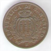 SAN MARINO 5 CENTESIMI 1935 - San Marino