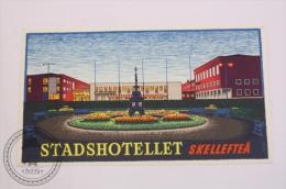 Stadshotellet Skelleftea Sweden - Original & Rare Vintage Luggage Hotel Label - Sticker - Hotel Labels