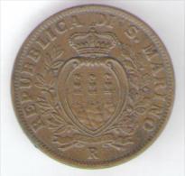 SAN MARINO 10 CENTESIMI 1936 - San Marino