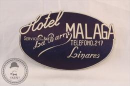 Hotel La Barra, Malaga - Spain - Original Vintage Luggage Hotel Label - Sticker - Hotel Labels