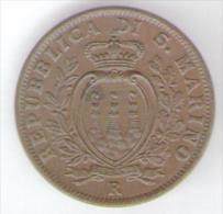 SAN MARINO 10 CENTESIMI 1937 - San Marino