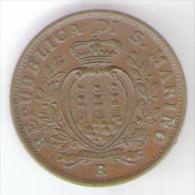 SAN MARINO 10 CENTESIMI 1938 - San Marino