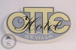 Hotel Otte, Sevilla - Spain - Original Vintage Luggage Hotel Label - Sticker - Hotel Labels