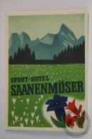 Sport Hotel Saanenmöser, Switzerland - Original Vintage Luggage Hotel Label - Sticker - Etiketten Van Hotels
