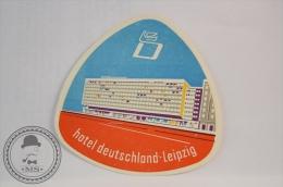 Hotel Deutschland, Leipzig - Germany - Original Vintage Luggage Hotel Label - Sticker - Hotelaufkleber