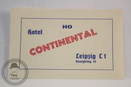 Hotel Continental, Leipzig - Germany - Original Vintage Luggage Hotel Label - Sticker - Hotelaufkleber