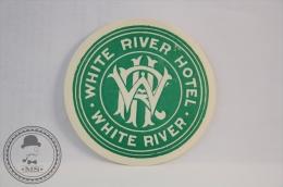 White River Hotel - England -  Rare & Original Vintage Luggage Hotel Label - Sticker - Hotel Labels
