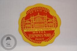 Hotel Terminus - Nord, Paris - France - Original Vintage Luggage Hotel Label - Sticker - Hotel Labels