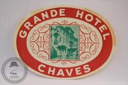 Grande Hotel, Cahors - France - Original Vintage Luggage Hotel Label - Sticker - Hotel Labels