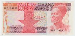 Ghana 5 Cedis 1980 Pick 19 UNC - Ghana