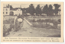 E3600 - MOULAND  - File De Charriots De Fourrage Allemands  *militaria*soldats Allemands* - Voeren