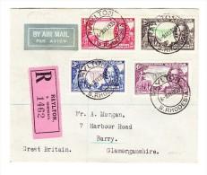 Flug-R-Brief Südrhodesien 6-5-1935 Nach Barry Grossbritannien - Southern Rhodesia (...-1964)