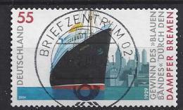 """Germany 2004  Dampfer """"BREMEN""""  (o)  Mi.2417 (selbstklebend) - [7] Federal Republic"""