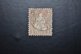 1867, 37a Brun-rouge Clair - Gebraucht