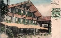 ! Alte Postkarte Grindelwald, Restaurant Bellevue, 1906, Schweiz, Suisse - BE Berne