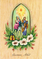 HEUREUX NOËL - Joseph, Marie Et Jesus Avec Leur âne Sous L´Etoile - Circulée En 1969 - Noël