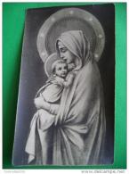 MADONNA Con Bambino - Istituto GUALANDI - Oblata Missione Sordomute FIRENZE - Santino Anno 1938 - Monocromo - Santini