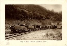IMAGE  -  MINES DE FER DE LORRAINE  -  SORTIE DU MINERAI  -  AVANT 1950   -  29 X 20 CM - Sonstige