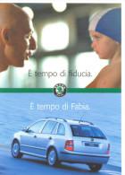 PROMOCARD N°  3008  SKODA FABIA - Advertising