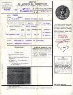 BREVET DE RETRAITE DU COMBATTANT  -  VERGNES HUBERT  -  1951  -  BELFORT DE QUERCY - Documents