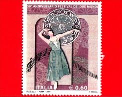NUOVO - ITALIA - 2007 - 50º Anniversario Del Festival Dei Due Mondi, A Spoleto - 0,60 € • Danzatrice - 6. 1946-.. Republic