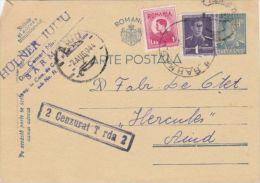 KING MICHAEL STAMPS ON PC STATIONERY, ENTIER POSTAL, CENSORED TURDA NR 2, 1944, ROMANIA - Cartas De La Segunda Guerra Mundial