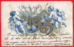 [DC6497] CARTOLINA AUGURALE - ANNO NUOVO 1903 - - Nouvel An