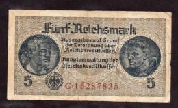 Banconota Da 5 Marchi Del 1940 - [ 4] 1933-1945 : Terzo  Reich