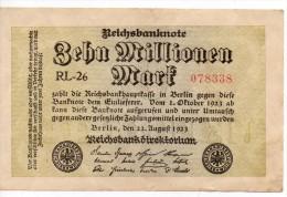 Banconota Da 10 Millionen Mark Del 1923 - 10 Millionen Mark