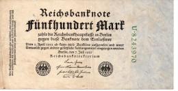 Banconota Da 500 Mark Del 1922 - 500 Mark