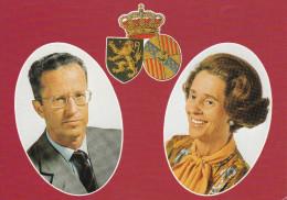 LL.MM  Le Roi Baudouin Et La Reine Fabiola.........(scan Verso). - Affiches Sur Carte