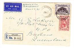 Adelaide R-Brief Nach Brisbane Erstflug Sydney-Brisbane 24-11-31 - 1855-1912 South Australia