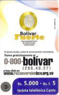 TARJETA DE VENEZUELA DE UNA MONEDA DE 1 BOLIVAR (COIN) - Sellos & Monedas