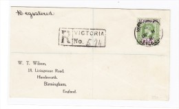 R-Brief Seychelles Nach Birmingham GB - Seychelles (...-1976)