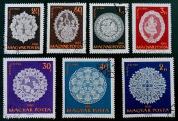 DENTELLES DE HALLAS 1960 - OBLITERES - YT 1345/48 + 1350/52 - MI 1660/63 + 1665/67 - Hongrie