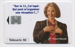 FRANCE - SUR LE 11 RECEPTION - 50 U  (USAGÉ) - France