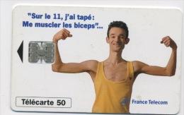 FRANCE - SUR LE 11 ME MUSCLER LES BICEPS - 50 U  (USAGÉ) - France