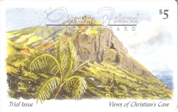 TARJETA DE LAS ISLAS PITCAIRN DE VIEWS OF CHRISTIAN CAVE - Pitcairn Islands