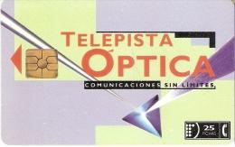 TARJETA DE ARGENTINA DE TELEPISTA OPTICA DE TIRADA 40000 - Argentina