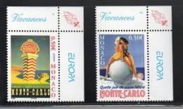 EUROPA MONACO N°2437/2438**  - V ACANCES - Cote 3  € - Europa-CEPT