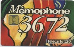 FRANCE - 3672 MEMOPHONE - 120 U  (USAGÉ) - France