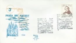 MILANO- 3^  FESTA  DEI NAVIGLI-   2-6-1973 - Fêtes