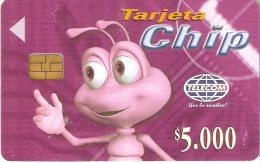 TARJETA DE COLOMBIA DE TELECOM DE $5000 DE UNA HORMIGA - Colombia