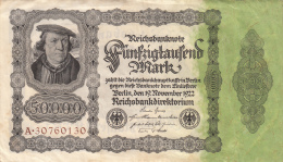 Billets - B1094 -  Allemagne   - Billet   50 000   Mark 1922 ( Type, Nature, Valeur, état... Voir  Double Scan) - [ 3] 1918-1933 : Weimar Republic