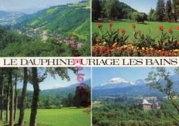 38 - URIAGE LES BAINS - VUE GENERALE  LE CHATEAU ET LE COLON - LES PARCS