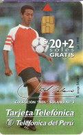TARJETA DE PERU DE TELEFONICA DEL JUGADOR DE FUTBOL ÑOL SOLANO (FOOTBALL) - Peru